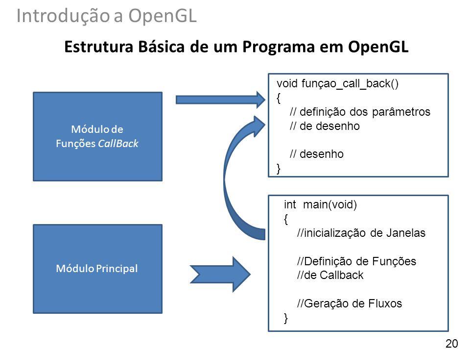 Estrutura Básica de um Programa em OpenGL