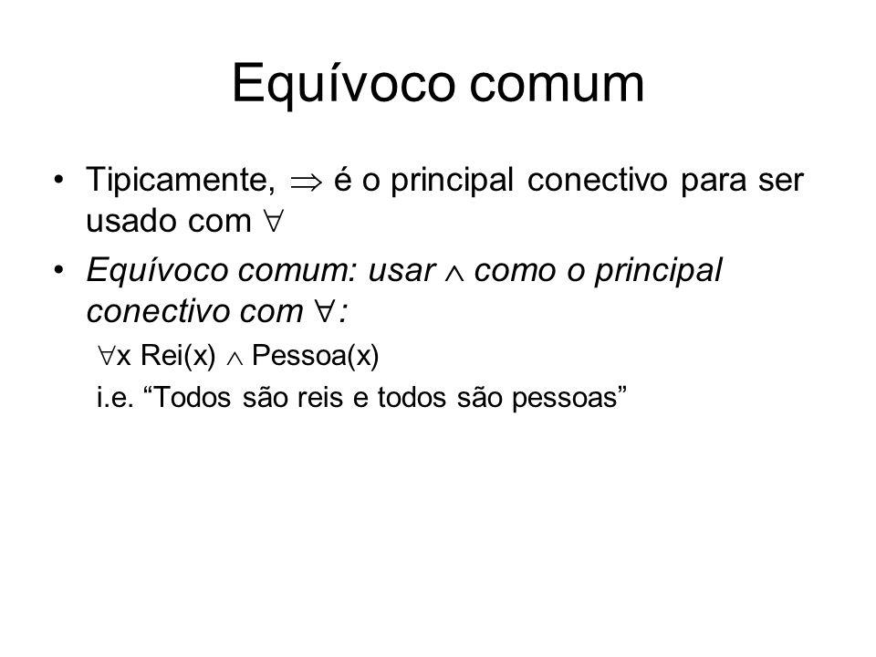 Equívoco comum Tipicamente,  é o principal conectivo para ser usado com  Equívoco comum: usar  como o principal conectivo com :