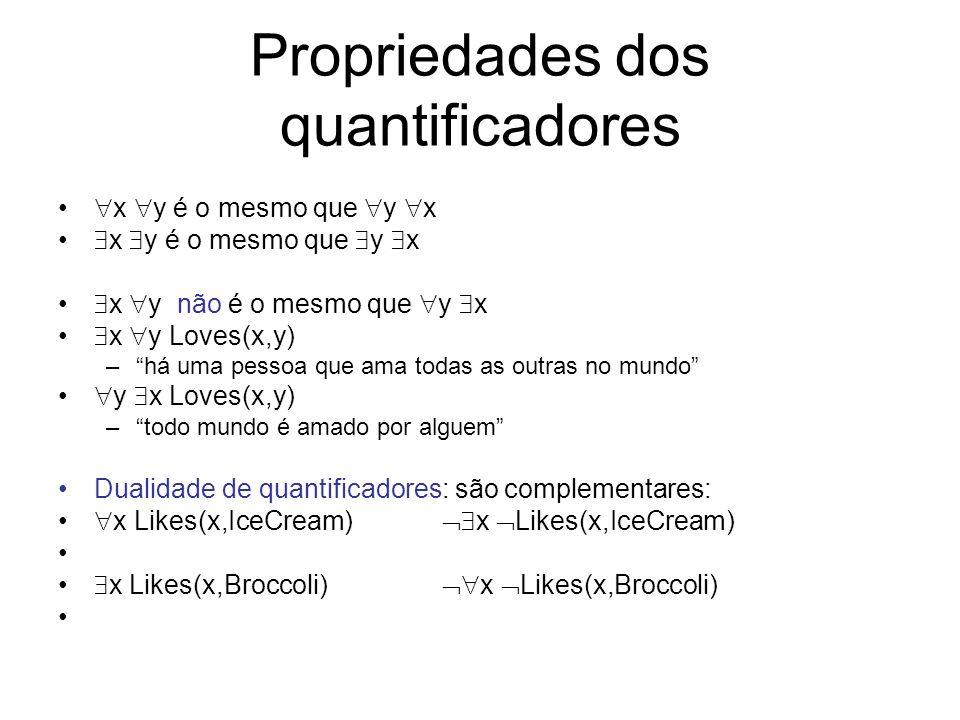 Propriedades dos quantificadores