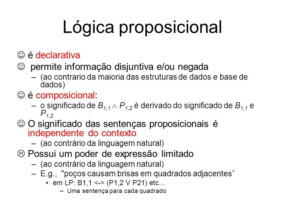 Lógica proposicional  é declarativa