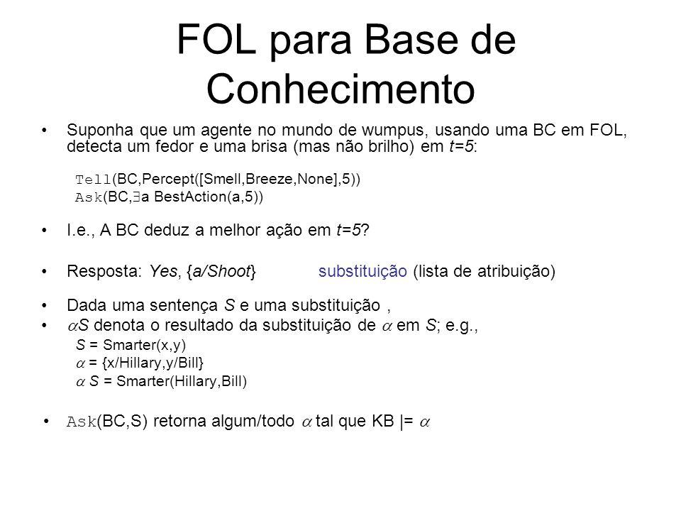 FOL para Base de Conhecimento