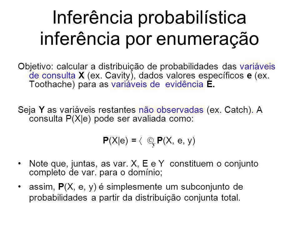 Inferência probabilística inferência por enumeração