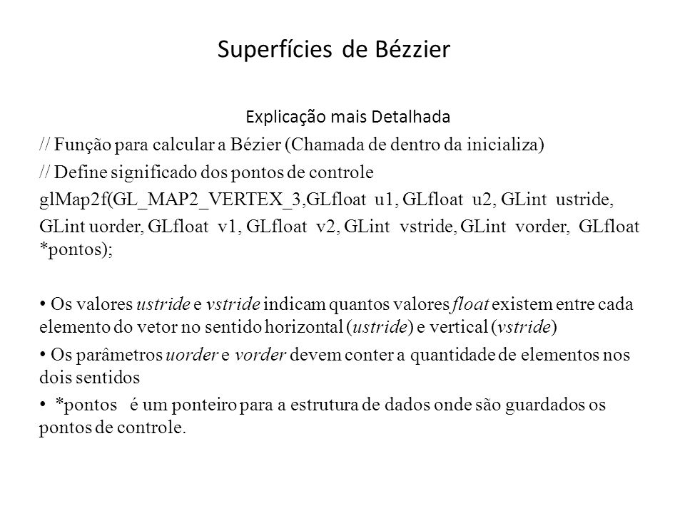 Superfícies de Bézzier