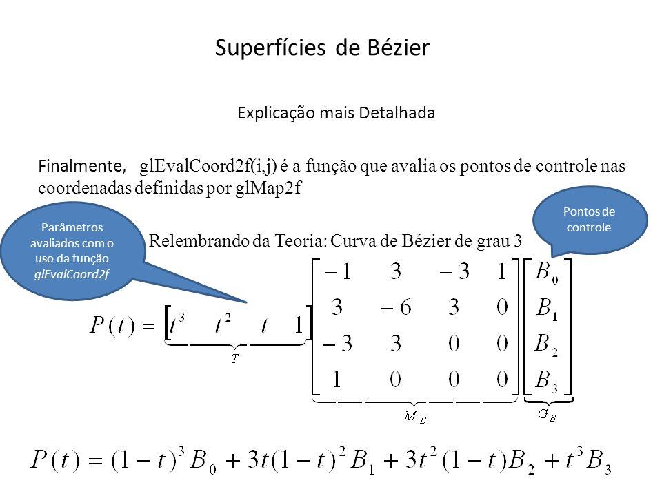 Superfícies de Bézier Explicação mais Detalhada