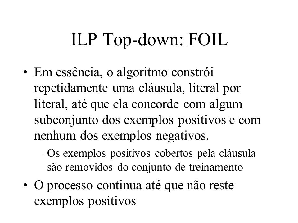 ILP Top-down: FOIL
