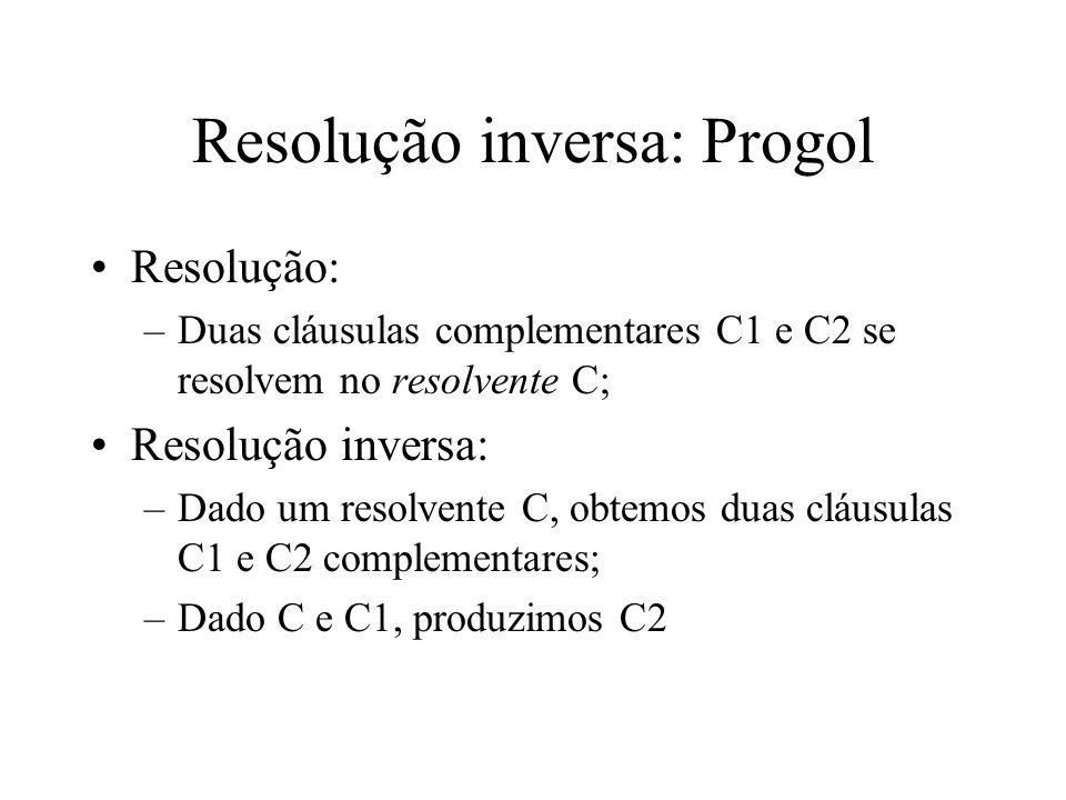 Resolução inversa: Progol
