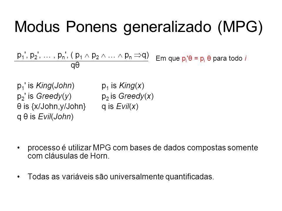 Modus Ponens generalizado (MPG)