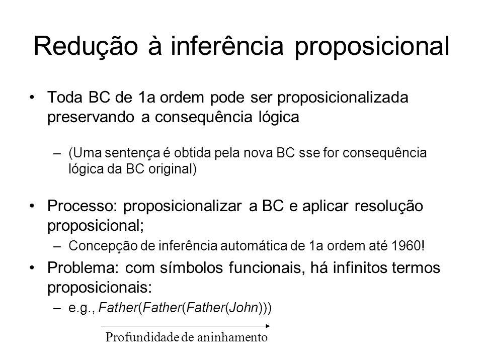 Redução à inferência proposicional