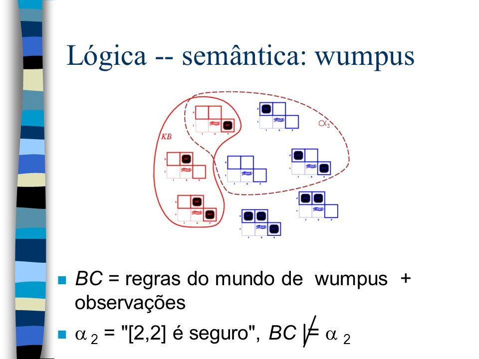 Lógica -- semântica: wumpus