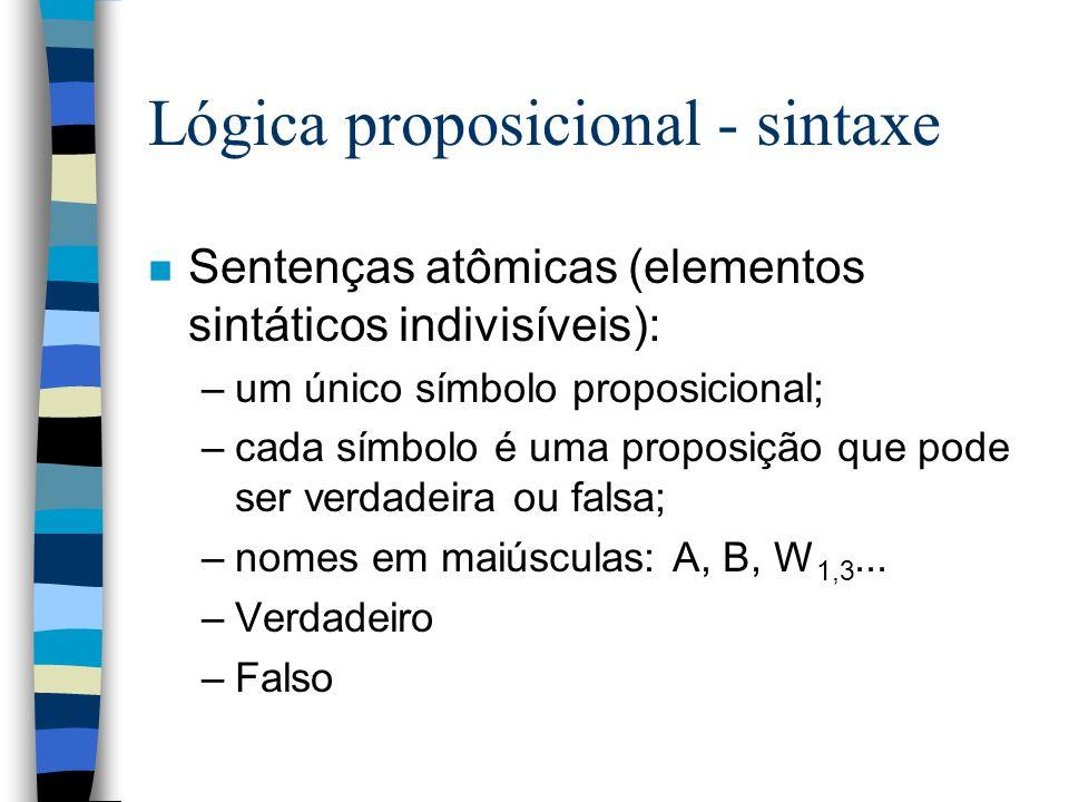 Lógica proposicional - sintaxe
