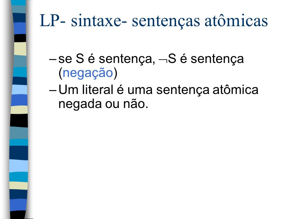 LP- sintaxe- sentenças atômicas