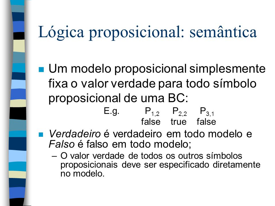 Lógica proposicional: semântica