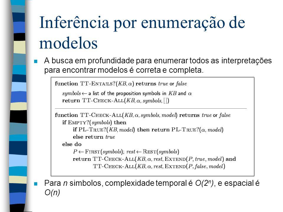 Inferência por enumeração de modelos