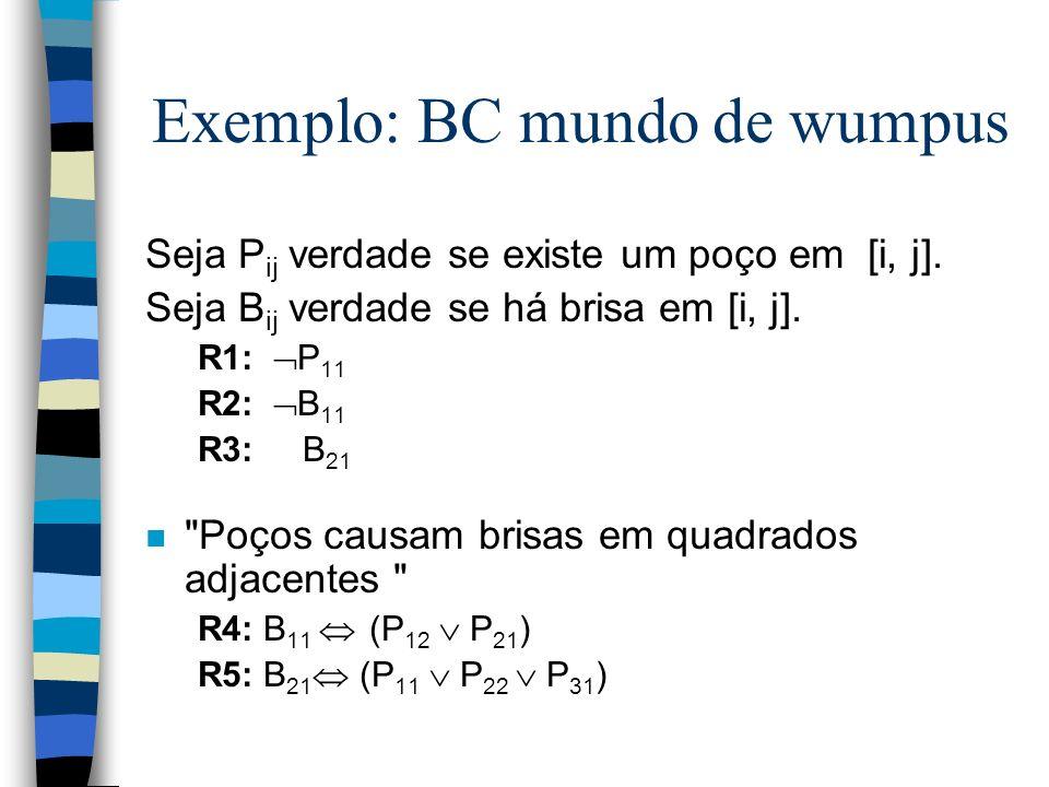 Exemplo: BC mundo de wumpus