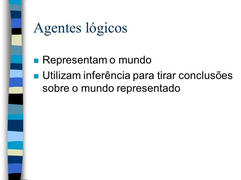 Agentes lógicos Representam o mundo
