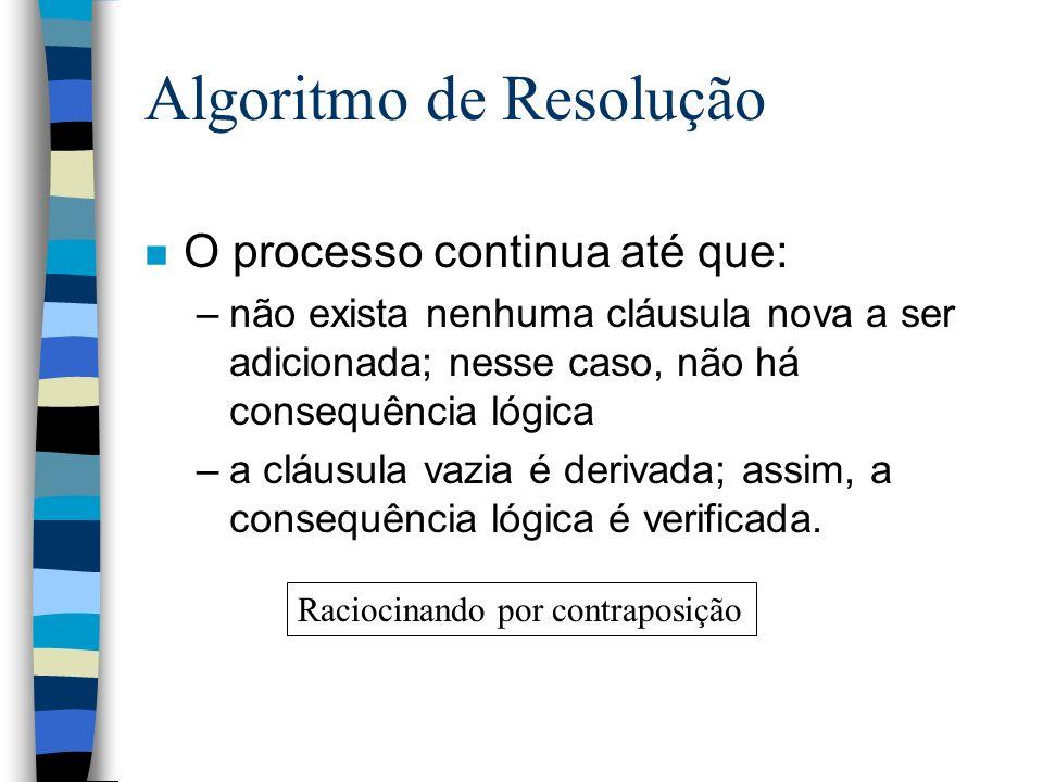 Algoritmo de Resolução