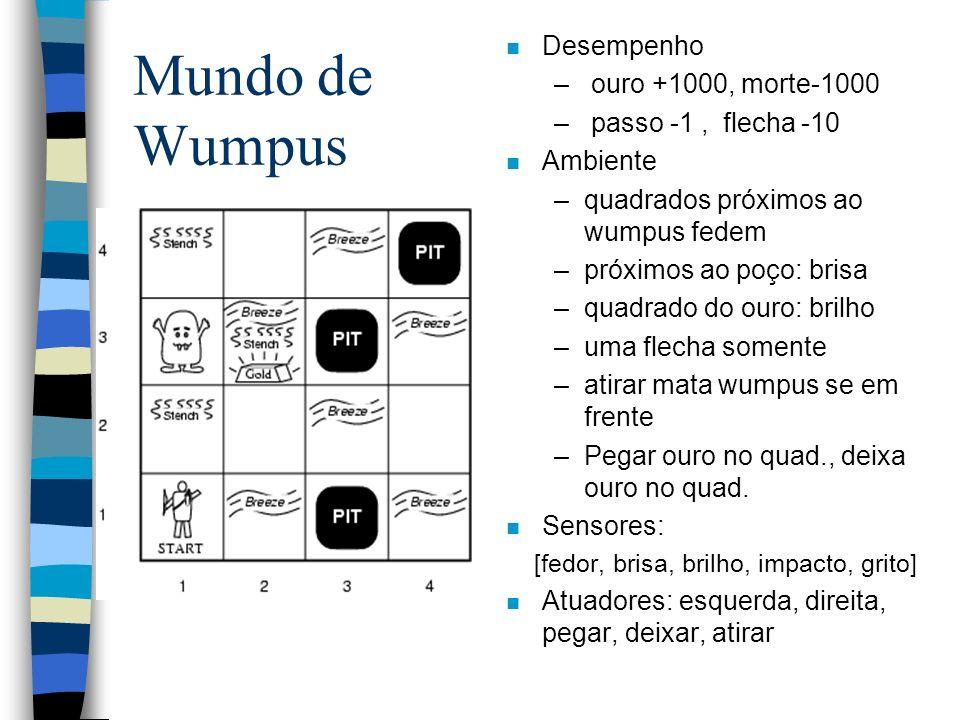 Mundo de Wumpus Desempenho ouro +1000, morte-1000