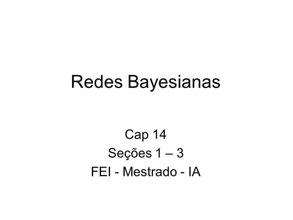 Redes Bayesianas Cap 14 Seções 1 – 3 FEI - Mestrado - IA