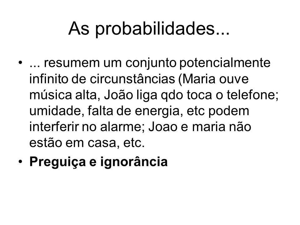 As probabilidades...