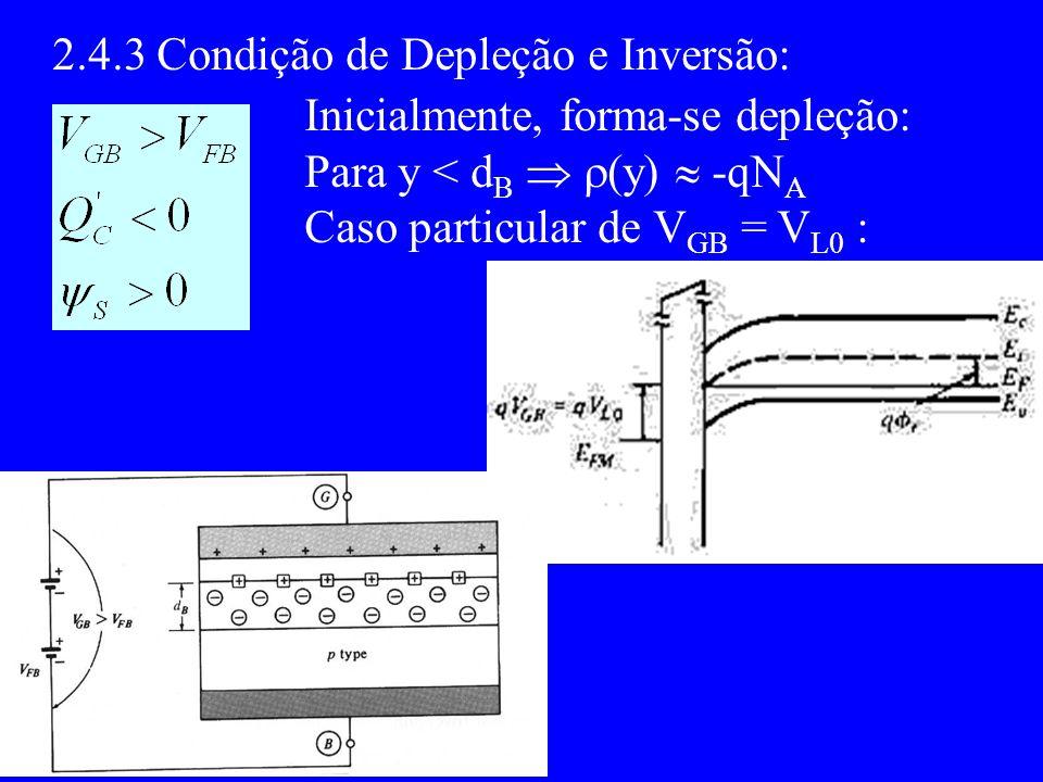 2.4.3 Condição de Depleção e Inversão: