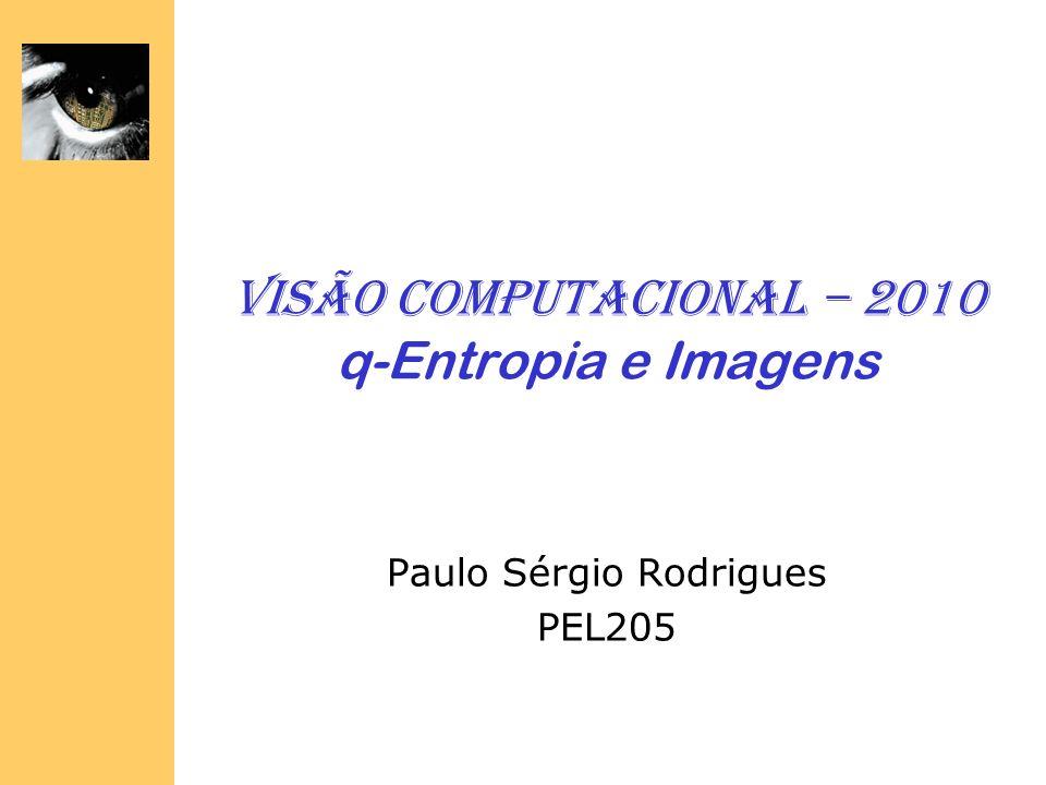 Visão Computacional – 2010 q-Entropia e Imagens