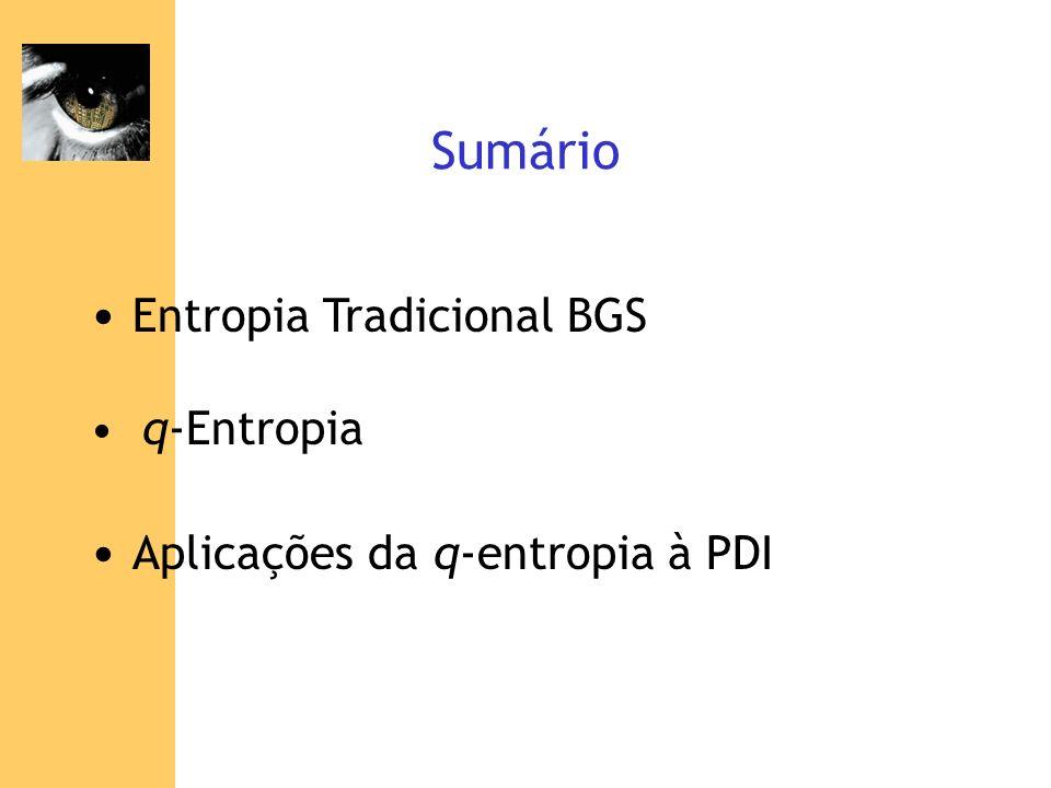 Entropia Tradicional BGS