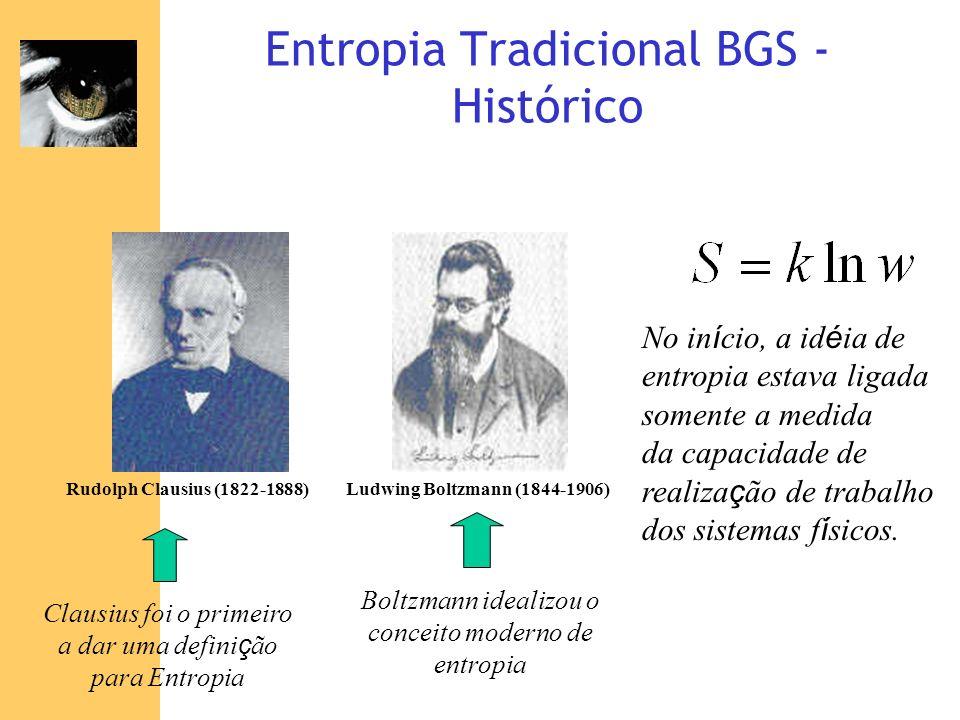 Entropia Tradicional BGS - Histórico