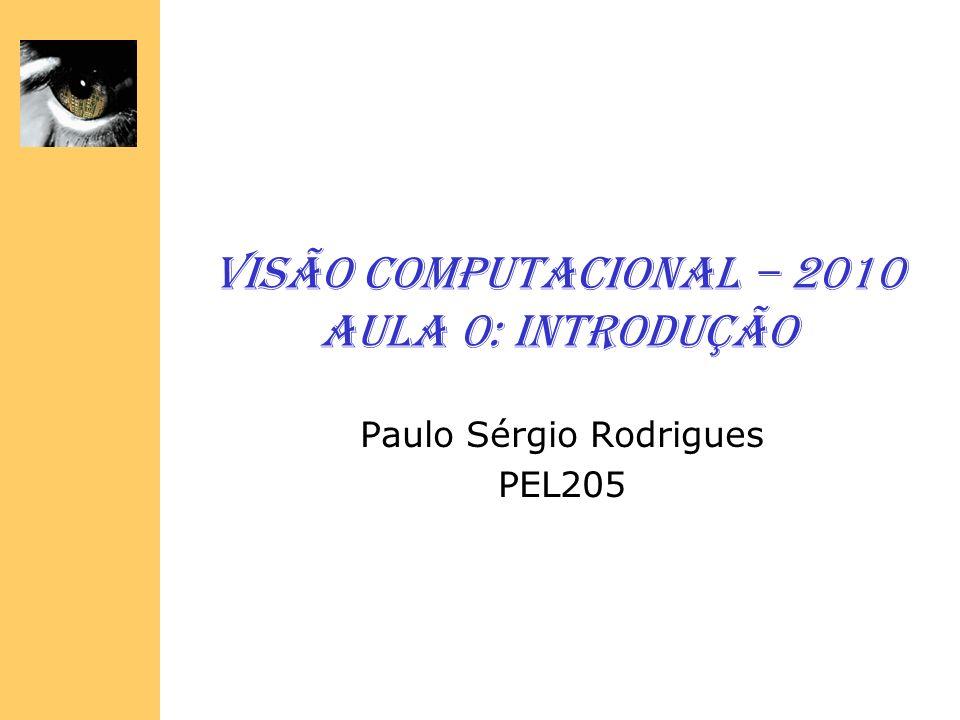 Visão Computacional – 2010 Aula 0: Introdução