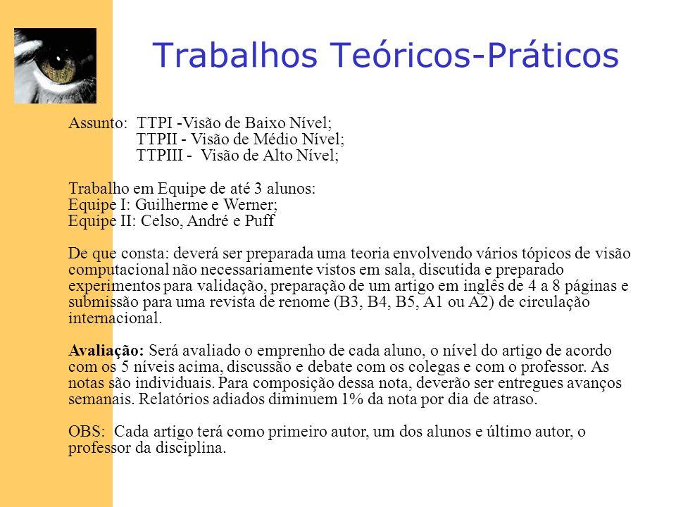 Trabalhos Teóricos-Práticos