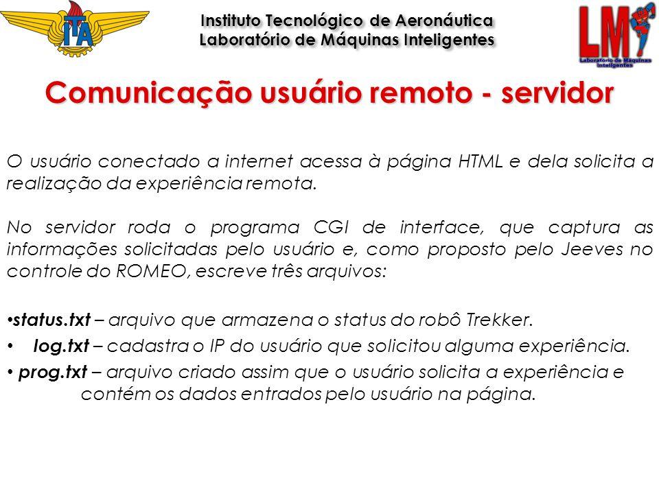 Comunicação usuário remoto - servidor