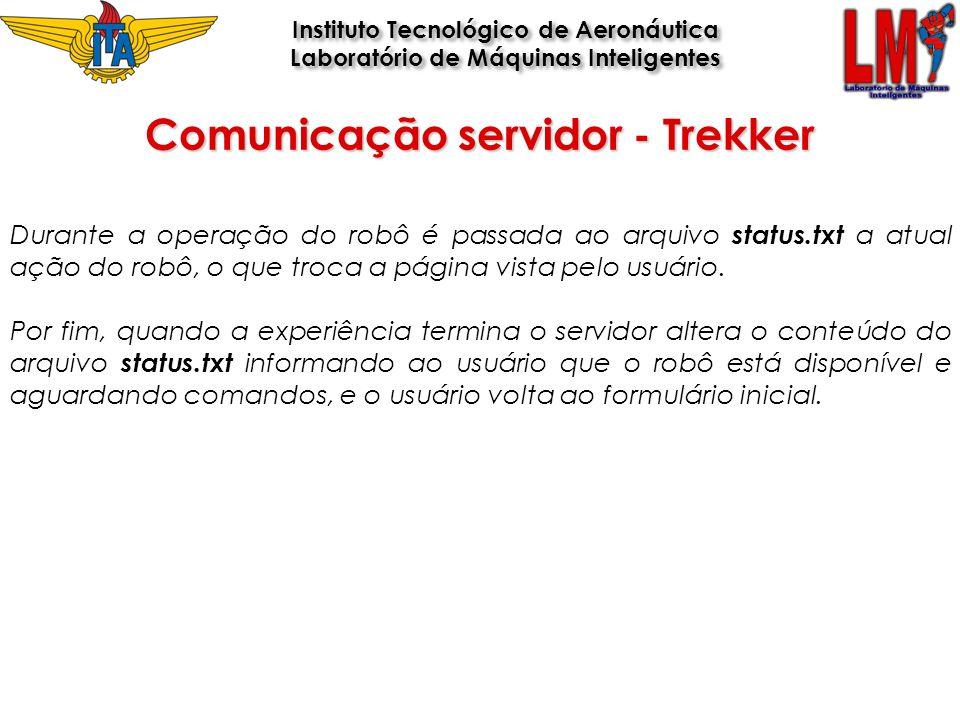 Comunicação servidor - Trekker
