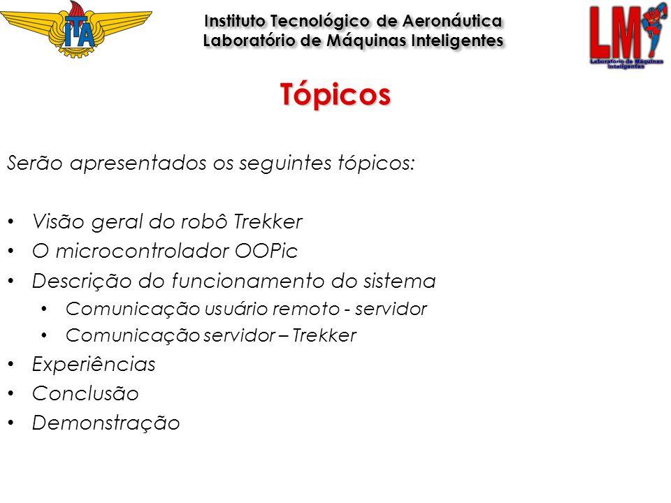 Tópicos Serão apresentados os seguintes tópicos: