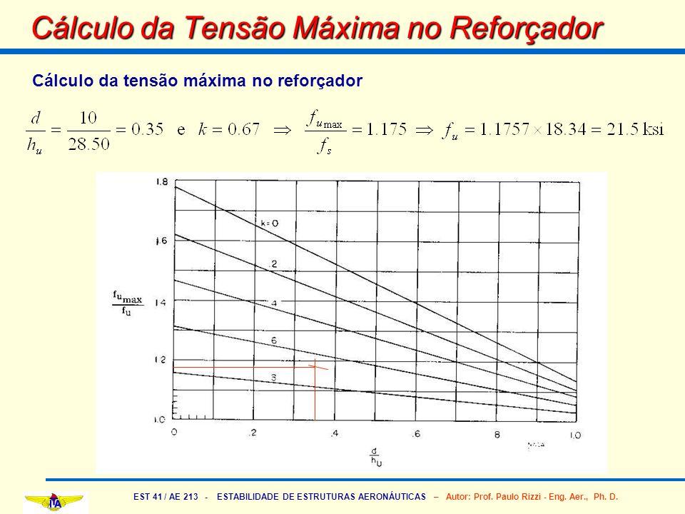 Cálculo da Tensão Máxima no Reforçador