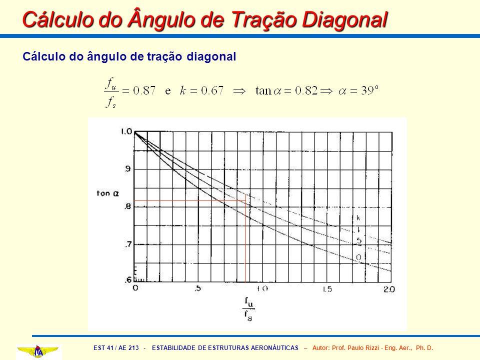 Cálculo do Ângulo de Tração Diagonal