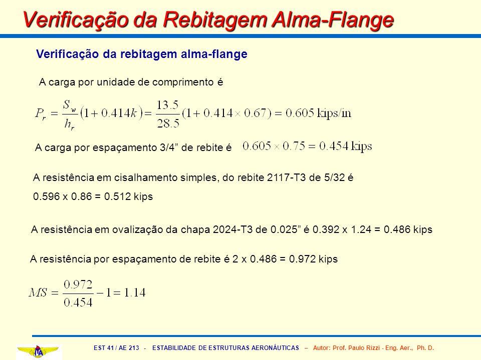 Verificação da Rebitagem Alma-Flange