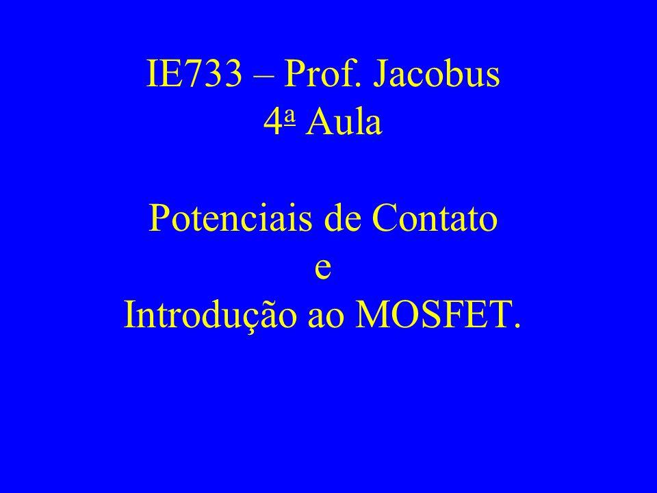 IE733 – Prof. Jacobus 4a Aula Potenciais de Contato e Introdução ao MOSFET.