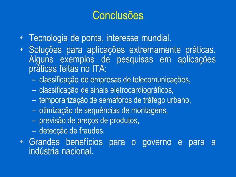 Conclusões Tecnologia de ponta, interesse mundial.