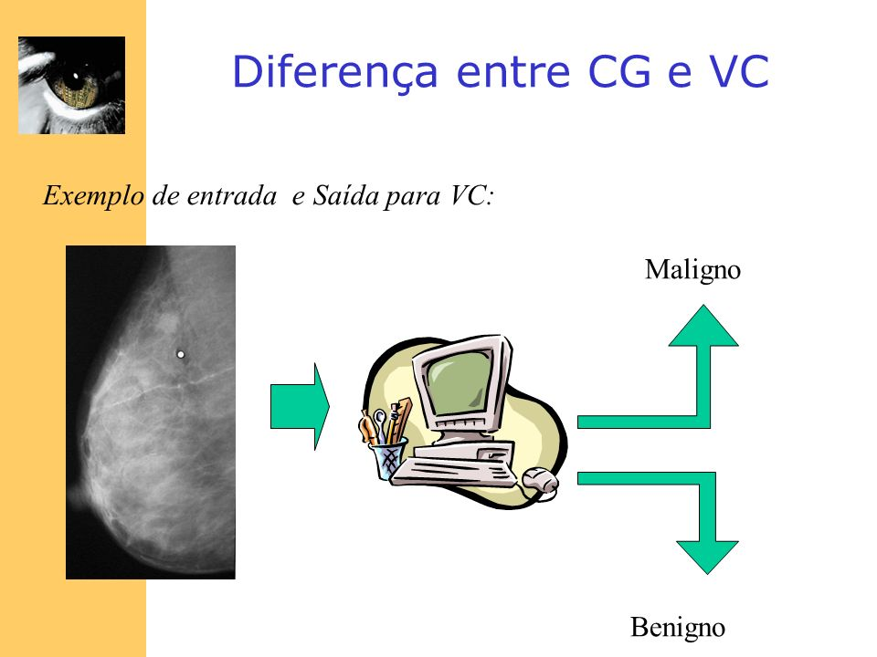 Diferença entre CG e VC Exemplo de entrada e Saída para VC: Maligno