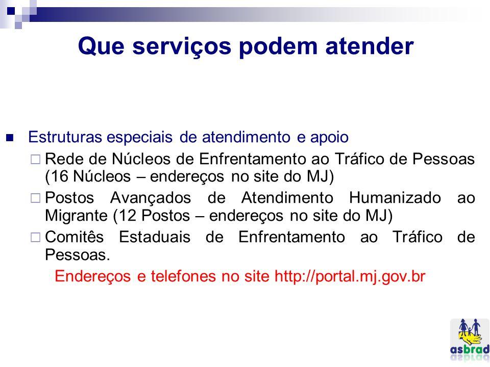 Que serviços podem atender