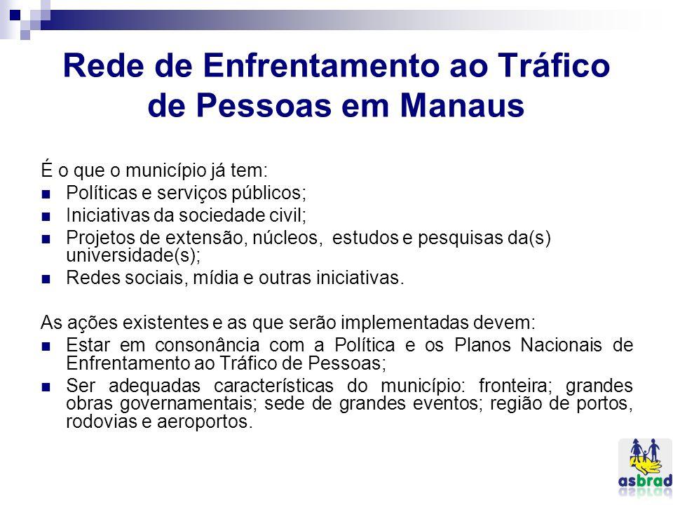 Rede de Enfrentamento ao Tráfico de Pessoas em Manaus
