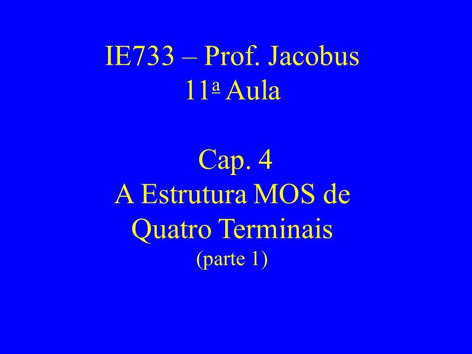 IE733 – Prof. Jacobus 11a Aula Cap