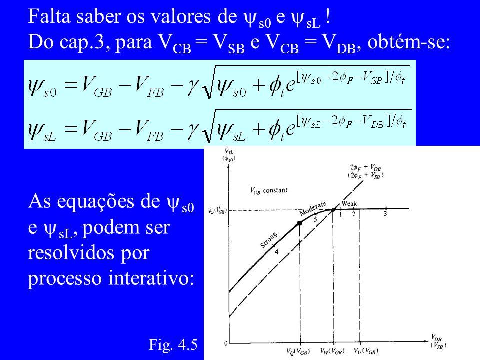 Falta saber os valores de s0 e sL !