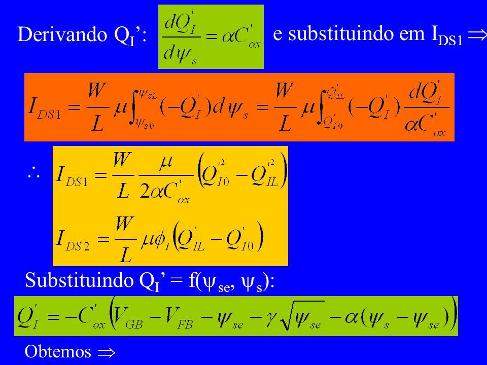Substituindo QI' = f(se, s):