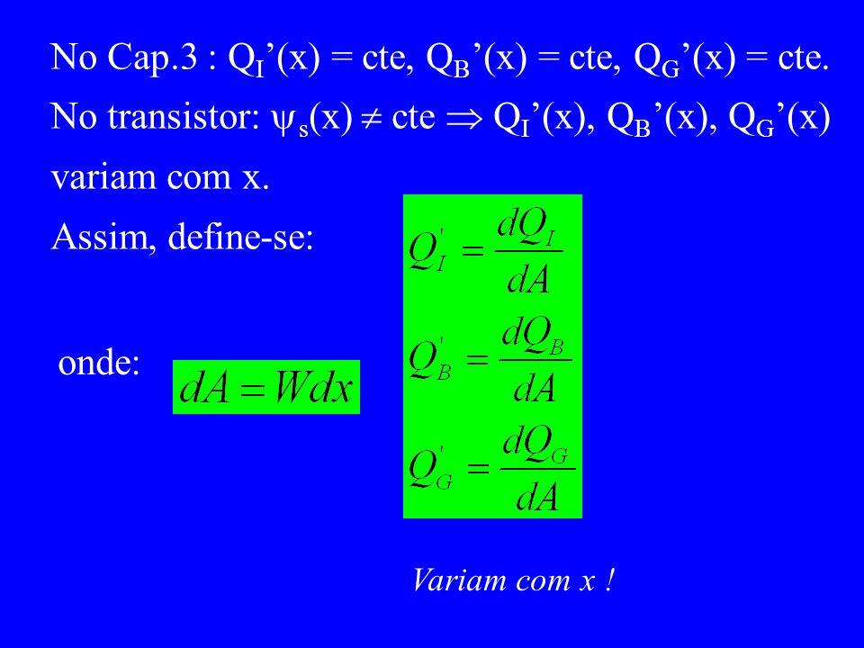 No Cap.3 : QI'(x) = cte, QB'(x) = cte, QG'(x) = cte.