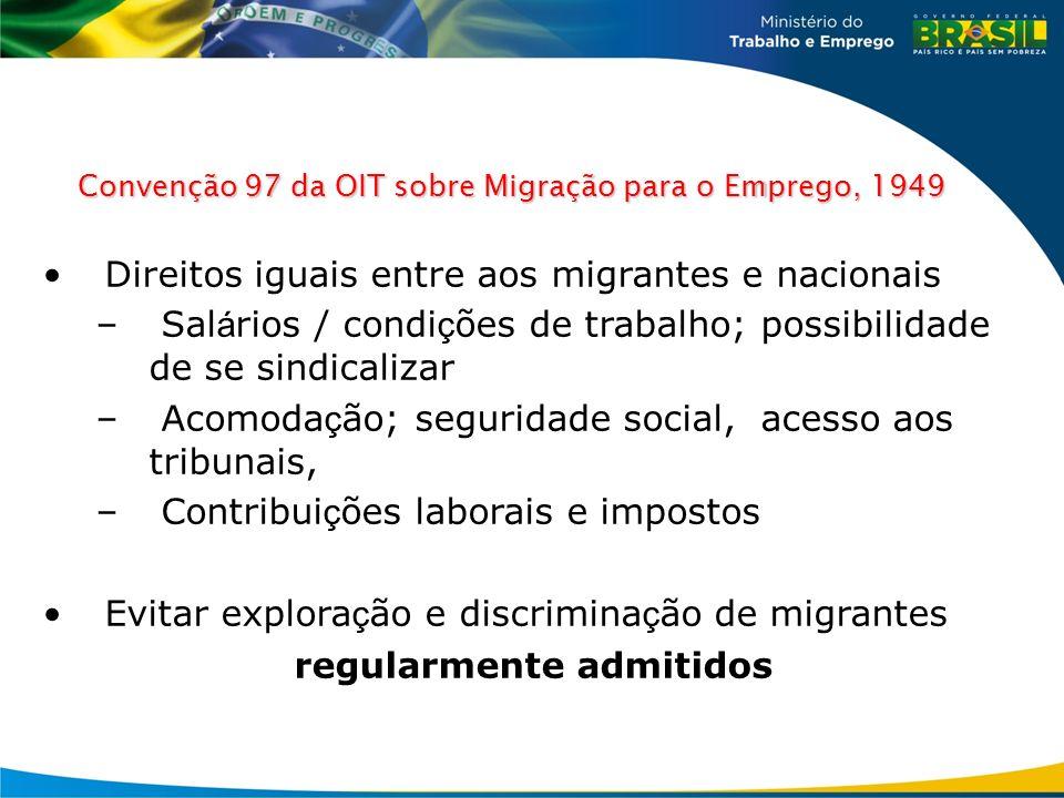 Convenção 97 da OIT sobre Migração para o Emprego, 1949