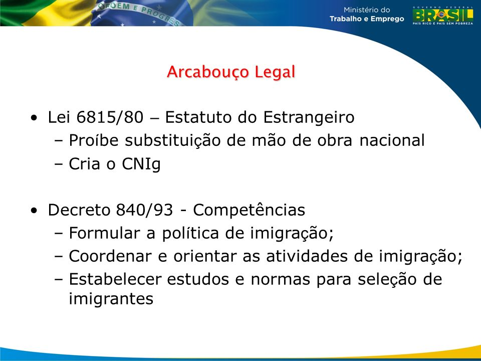 Lei 6815/80 – Estatuto do Estrangeiro