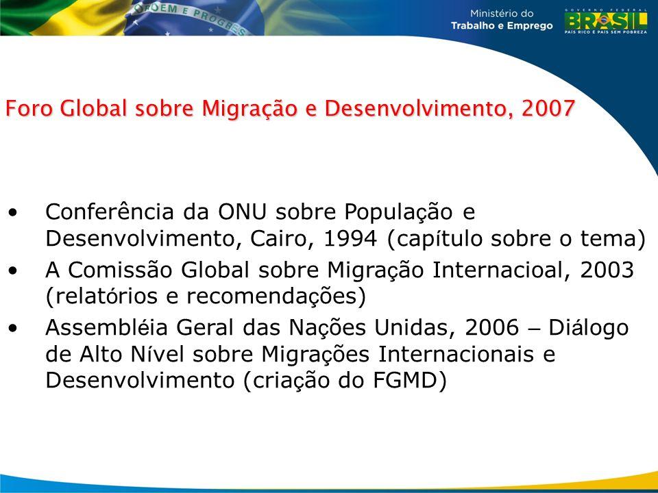 Foro Global sobre Migração e Desenvolvimento, 2007