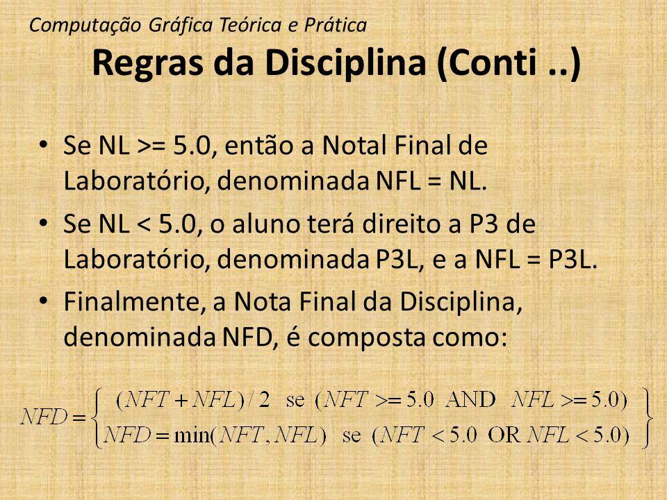 Regras da Disciplina (Conti ..)