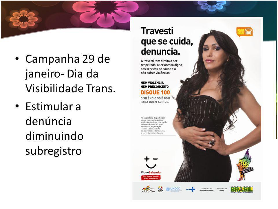 Campanha 29 de janeiro- Dia da Visibilidade Trans.