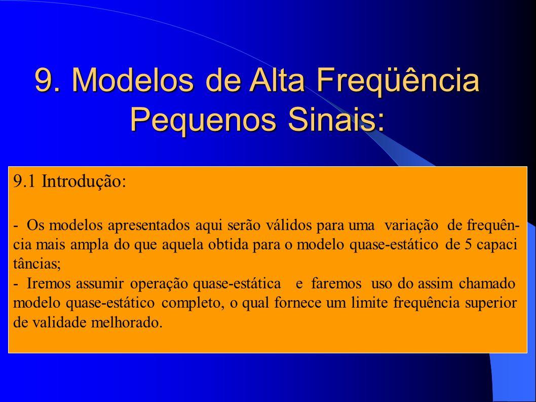 9. Modelos de Alta Freqüência Pequenos Sinais:
